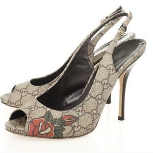 Gucci Supreme Tattoo Heels